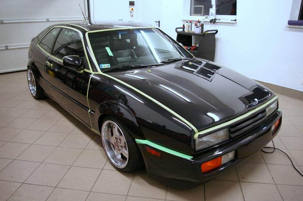 VW Corrado przygotowany do polerowania lakieru