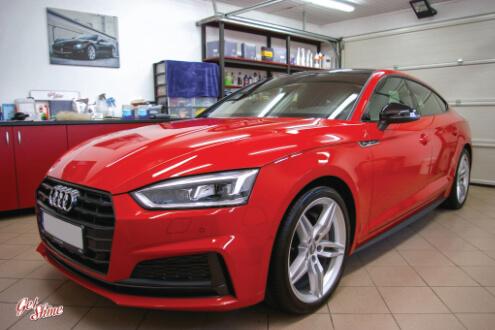 Audi A5 S-line – pełna korekta lakieru, powłoka ceramiczna Gyeon Syncro