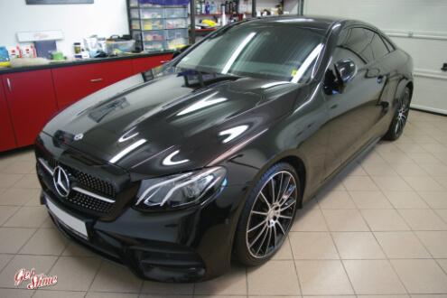 Mercedes E300 – zabezpieczenie nowego auta, korekta lakieru, Gyeon Syncro