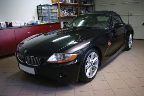 BMW Z4 – korekta lakieru, powłoka ceramiczna Gyeon Mohs