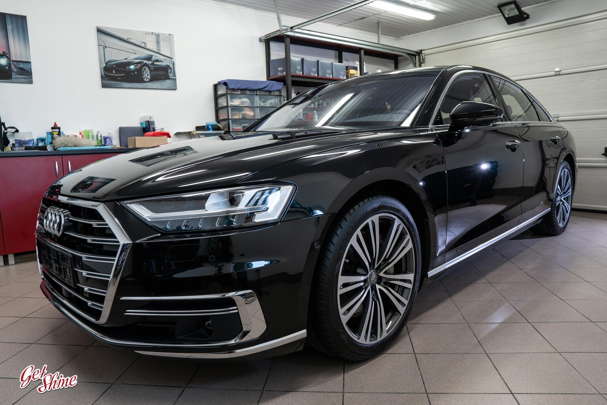 Audi A8 – zabezpieczenie powłoką ceramiczną Gyeon Syncro, korekta lakieru